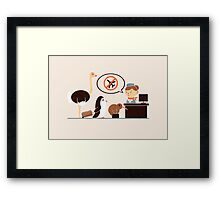 The No-Fly List Framed Print