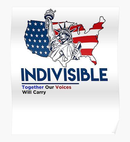 Indivisible: Liberal Anti Trump Movement Poster