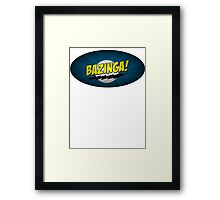The Big Bang Theory - Bazinga Framed Print