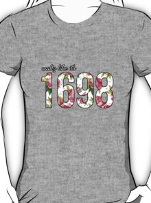 Waltz like it's 1698 Pink/White Floral T-Shirt