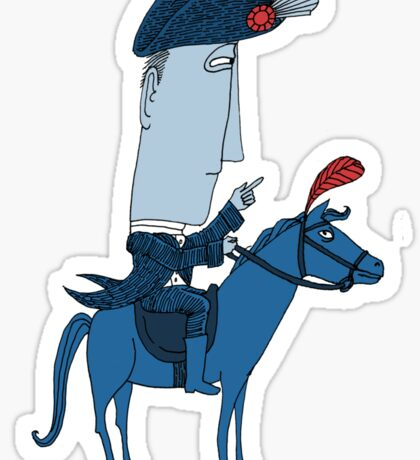 Napoleon and his Horse Sticker