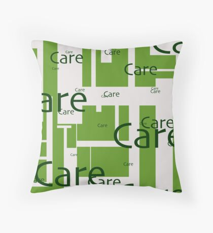Caring and Sharing Throw Pillow