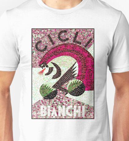 BICYCLE; Vintage Bianchi Mosaic Print Unisex T-Shirt