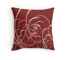 Red Flares Throw Pillow