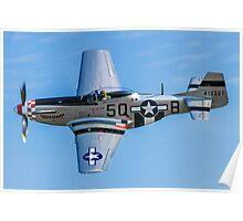 """P-51D Mustang 44-13521/5Q-B G-MRLL """"Marinell"""" Poster"""