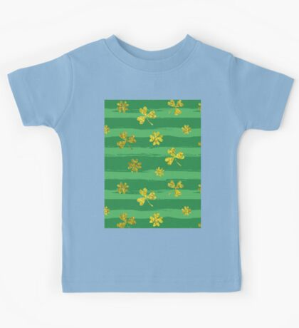 st patricks golden shamrocks Kids Tee