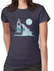 Penguin Space Race Womens Fitted T-Shirt