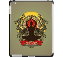Meditation brings wisdom iPad Case/Skin