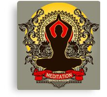 Meditation brings wisdom Canvas Print
