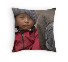 Kashgar, Young Uyghur Boy Throw Pillow