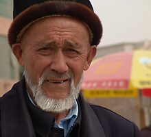 Kashgar, Elderly Uyghur Man by Lucas Packett