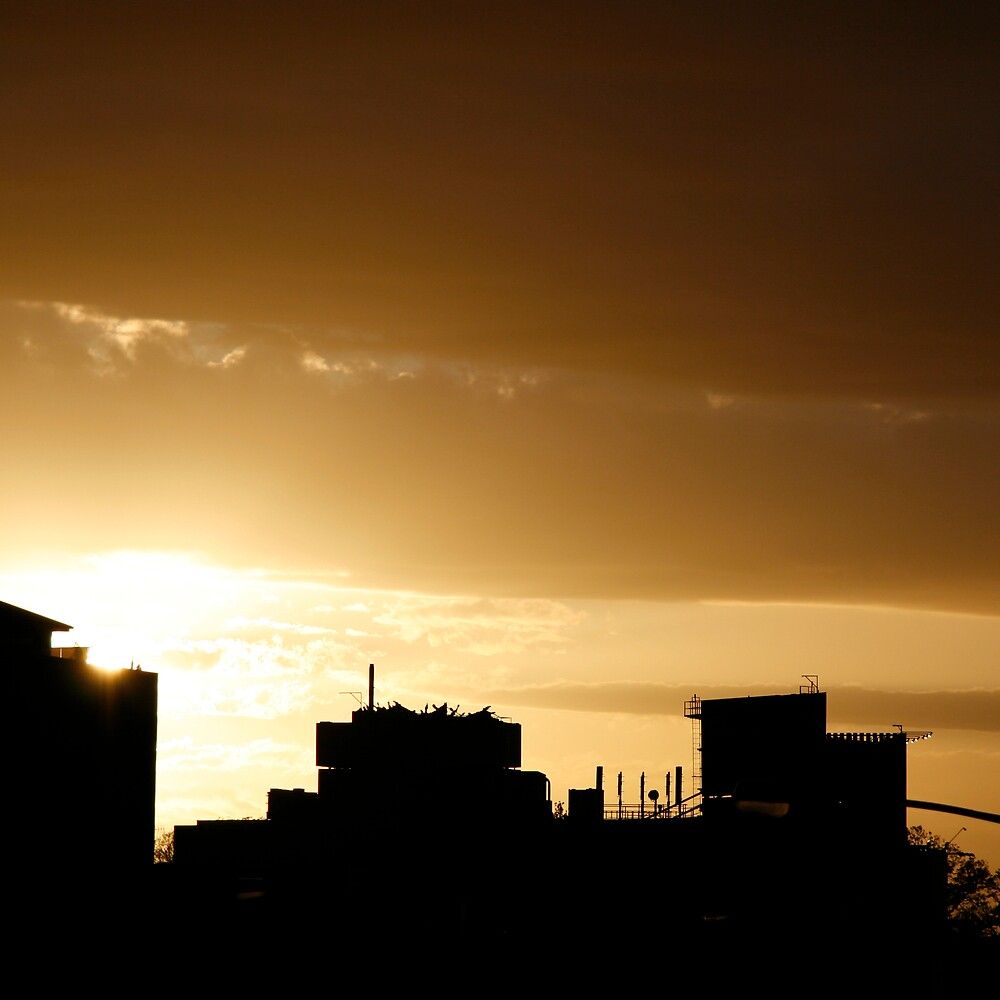 Dandenong rd sunset by Lucy Ennis