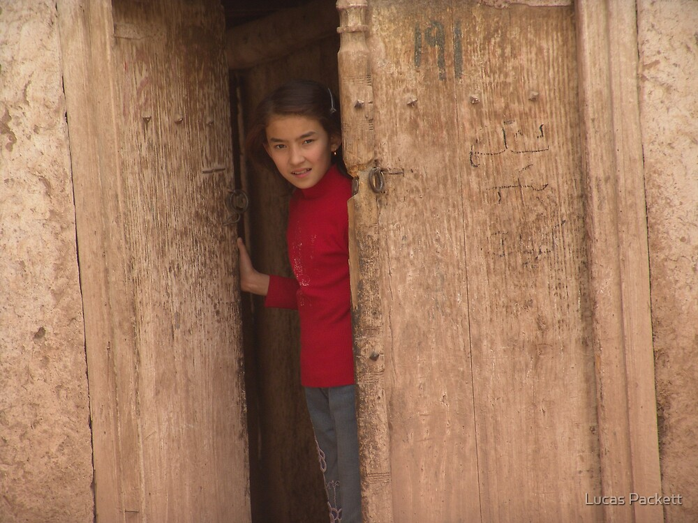 Kashgar, Young Uyghur Girl, Old City by Lucas Packett