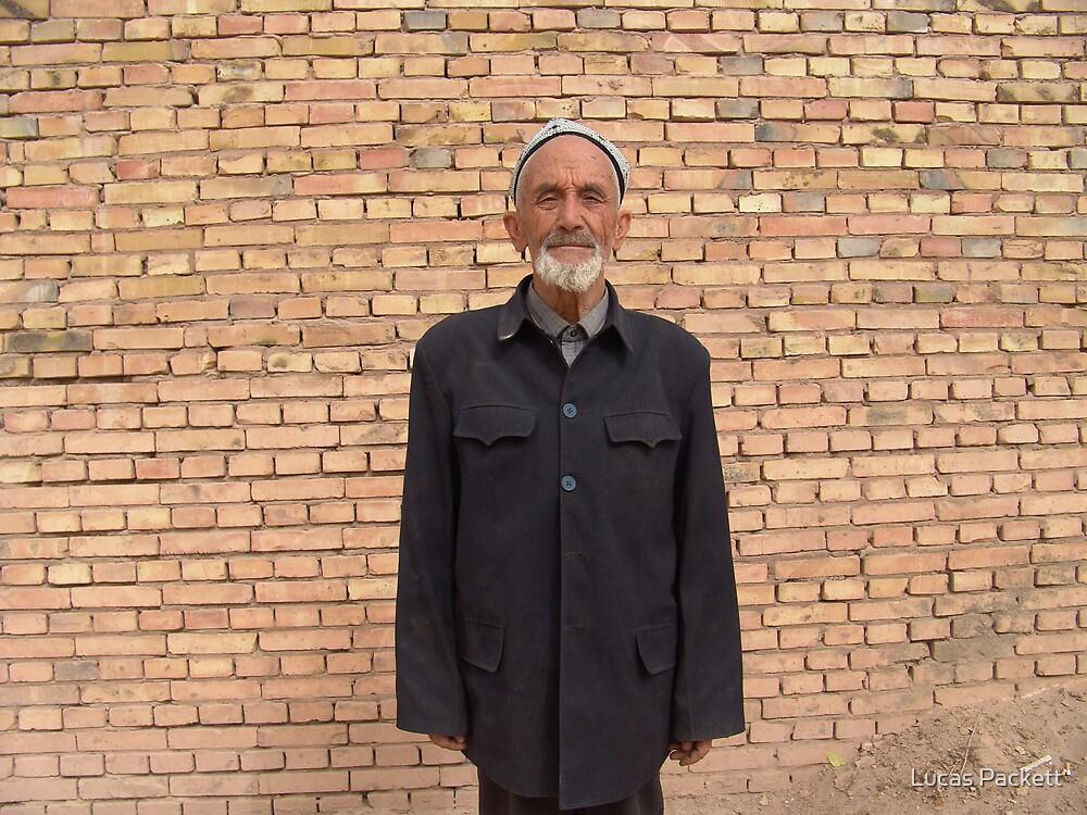 Kashgar, Proud Elderly Uyghur Man by Lucas Packett