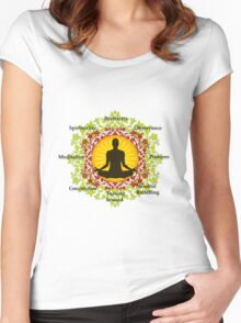 Eight limb path of yoga Women's Fitted Scoop T-Shirt