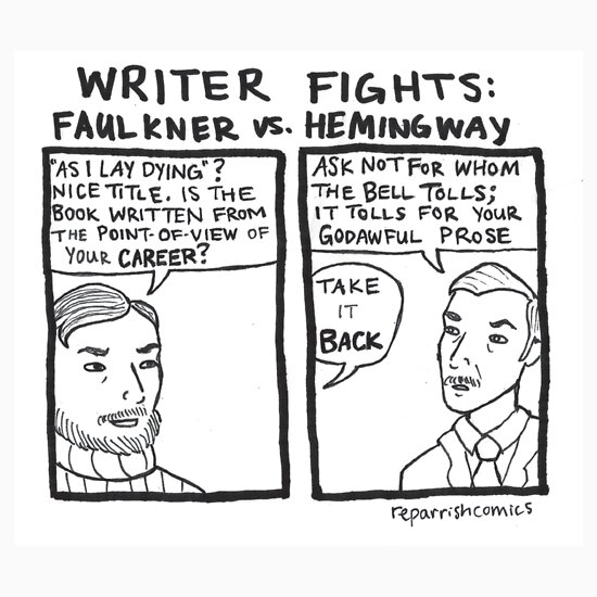 evaluating ernest hemingways style of writing But his writing style was much more than that hemingway began his career as a newspaper reporter journalistic writing, focuses only on event being reported, omitting superfluous and extraneous matter.