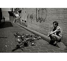 Chinatown Pigeons Photographic Print