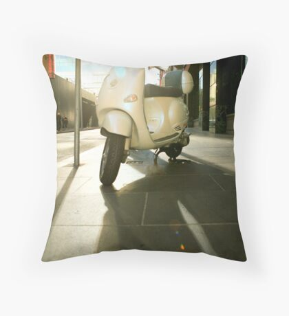 Vespa Chic Throw Pillow