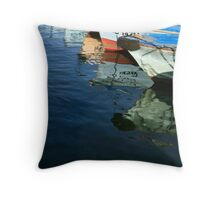 Row, Row, Row of Boats Throw Pillow
