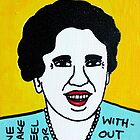Eleanor Roosevelt Folk Art by krusefolkart