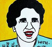 Eleanor Roosevelt Folk Art by krusefolkart