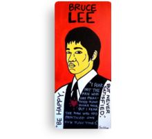 Bruce Lee Folk Art Canvas Print