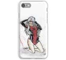 Pinup Black Cat iPhone Case/Skin