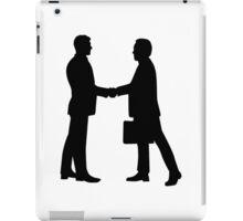 Business men shake hands iPad Case/Skin