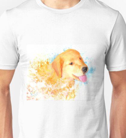 Happy Puppy Dog Unisex T-Shirt