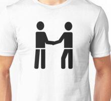 Business men shaking hands Unisex T-Shirt