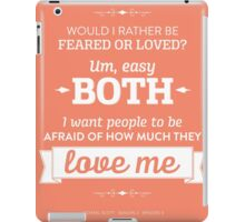 Dunder Mifflin The Office - Michael Scott Feared or Loved iPad Case/Skin