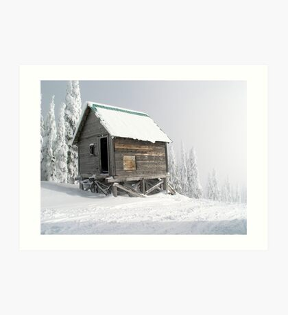 Snow Shack Art Print