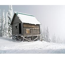 Snow Shack Photographic Print