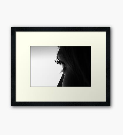 only the moment Framed Print