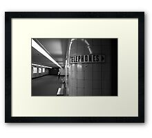 flinder's depths Framed Print