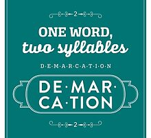 The Office Dunder Mifflin - Dwight Schrute - Two Syllables: Demarcation by noondaydesign