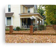 Autumn Yard Canvas Print