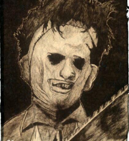 Leather face Horror Portrait  Sticker
