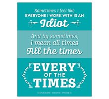 The Office Dunder Mifflin - Kevin Malone - Every of the Times Photographic Print