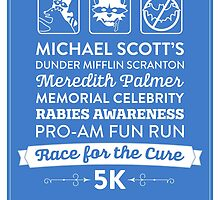 The Office Dunder Mifflin - Rabies Awareness Fun Run by noondaydesign