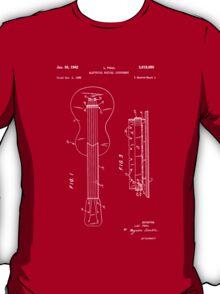 Les Paul Guitar Patent-(Red) T-Shirt