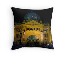 Stopping All Stations Throw Pillow