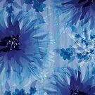 Chrysanthemum on wood grain by Lara Allport