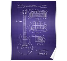 Ted McCarty Guitar Patent Poster