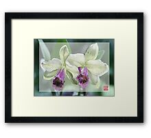 Merged Orchid # 4 Framed Print