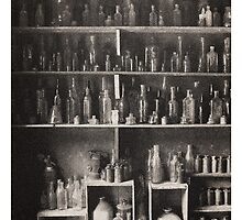 bottle collection by Jeff Moorfoot