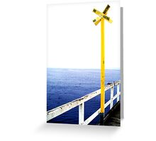 Yellow Sign Greeting Card