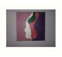 Woman in Abstract Art Print