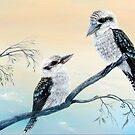Kookaburras Two by Linda Callaghan