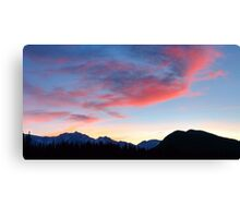 Pink is the new blue in widescape (2) Canvas Print